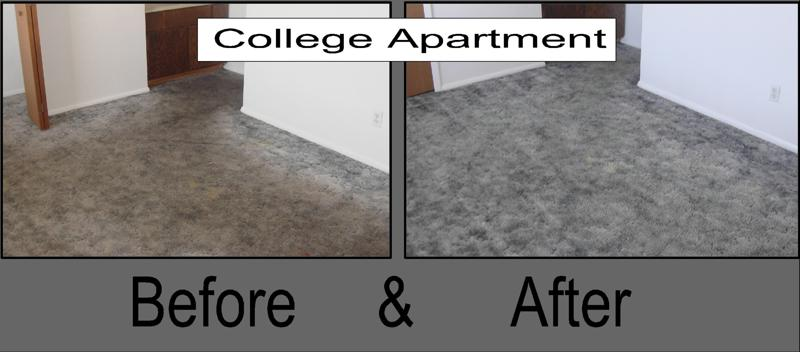 College Student Carpet Restaurant Before Cleaning