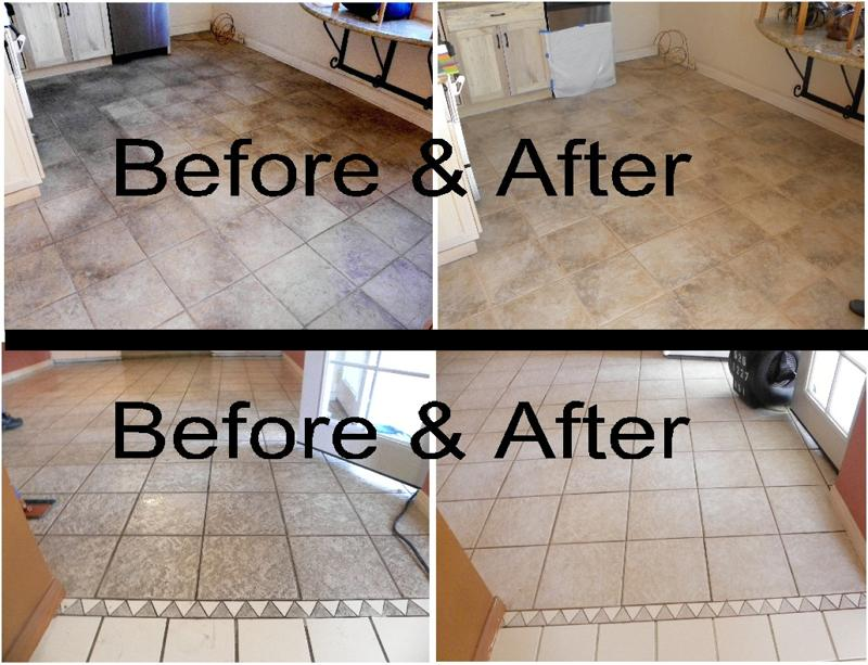 Before After Comparisons. Tile Before Cleaning